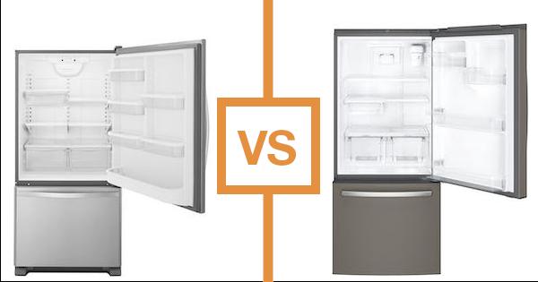 Ge vs Whirlpool Bottom Freezer Refrigerators