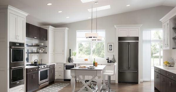 Built In Refrigerators - KitchenAid KBFN502EBS Built In French Door Lifestyle Image