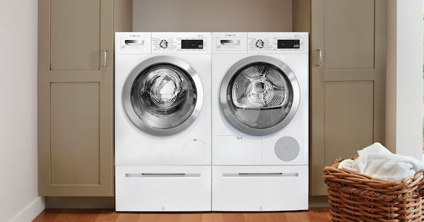 Ventless Condenser Dryer Features Reviews_Bosch WTG865H2UC Condensation Dryer Compact Washer Dryer Pair