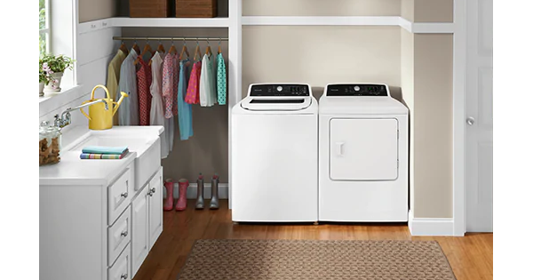 Frigidaire Top Load Washer and Dryer - Lifestyle Image