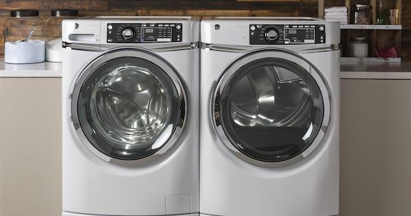 Front Load Washer Benefits - GE GFW490RSKWW Lifestyle Image