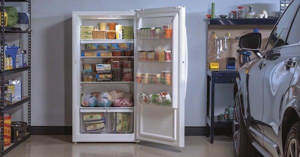 Frost Free Freezer - GE Appliances FUF17DLRWW Upright Freezer