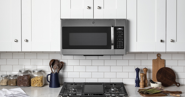 GE vs LG Over the Range Microwave - GE JVM7195SKSS Lifestyle Image