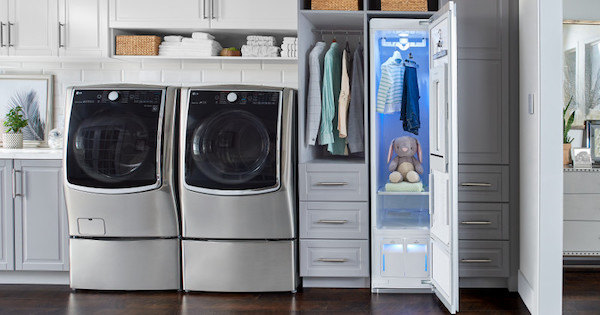 LG Styler Lifestyle Image - The Ultimate Laundry Room