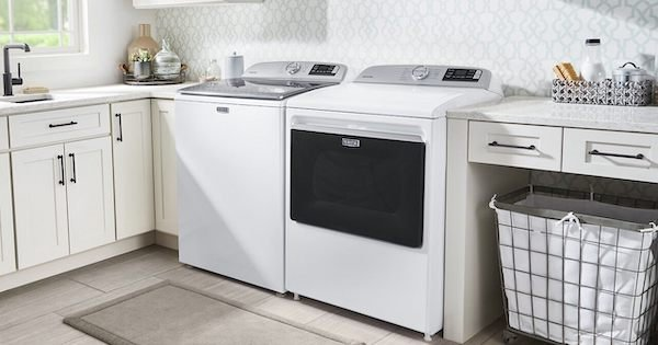 Above the Fold Image Maytag vs GE Top Load Washer - MVW6230HW Maytag Lifestyle
