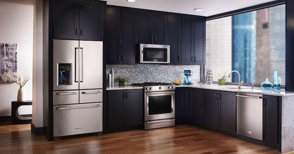 Above the Fold Image Refrigerator with Drawers - KitchenAid KRMF706ESS Lifestyle