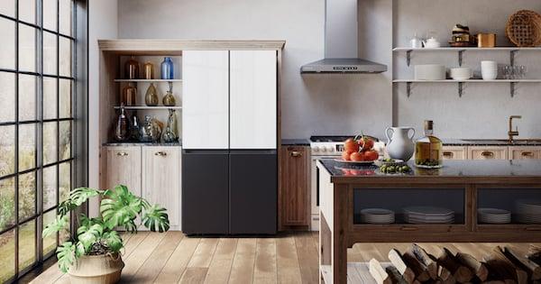 Above the Fold Image Samsung Bespoke Refrigerator New 2021