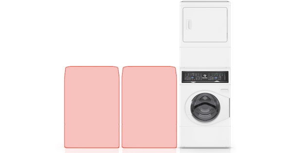 Above the Fold Image Speed Queen Stackable Washer Dryer