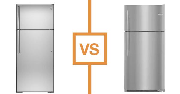 Top Freezer Refrigerator Reviews Frigidaire Vs Ge