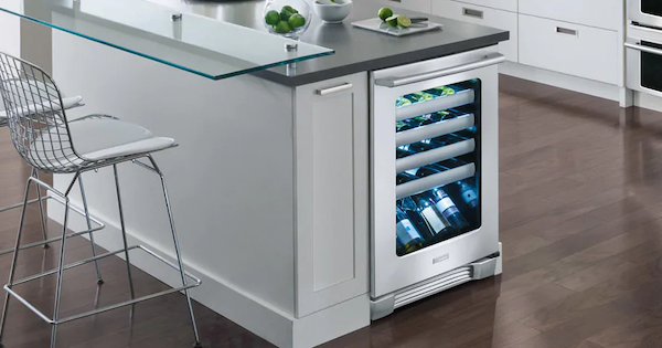 Wine Refrigerator Reviews - Electrolux EI24WC10QS Lifestyle Image