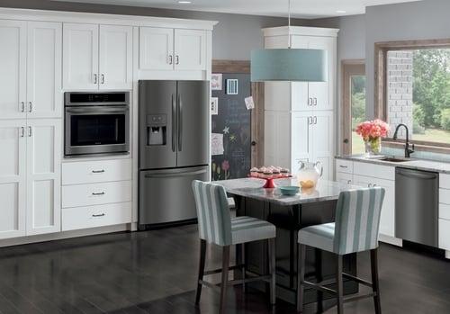 Slate vs Black Stainless vs Black Slate - Frigidaire Black Stainless Appliance Kitchen