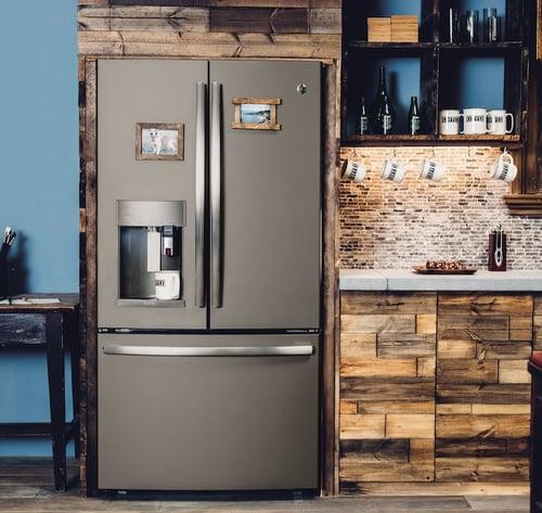 Slate vs Black Stainless vs Black Slate - GE Slate Appliance Kitchen