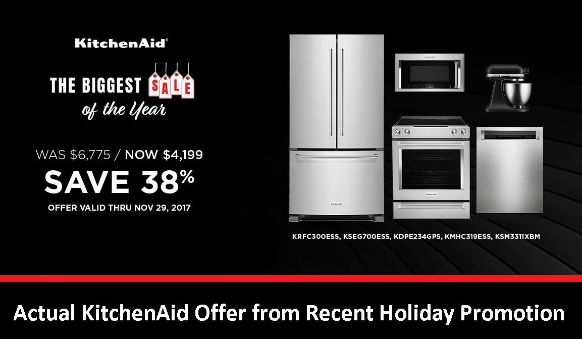KitchenAid Appliances  Sample Offer - Black Friday 2017
