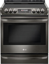 New Appliance Colors - LG Black Stainless Steel Range