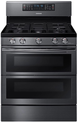 New Appliance Colors - Samsung Black Stainless Steel Gas Range