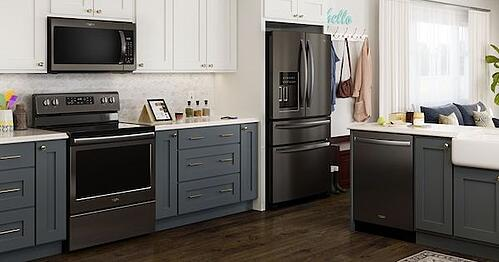 Whirlpool Black Stainless Steel Appliance Suite