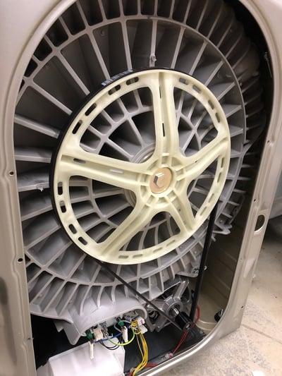 Belt Driven Washing Machine Rotated 2
