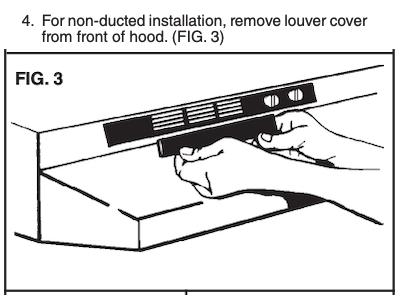 Convertible Range Hood Install Instructions Example - Broan 46000 Series