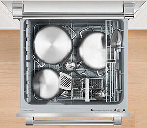 Fisher Paykel Dishwasher Reviews_DishDrawer Interior Pots and Pans