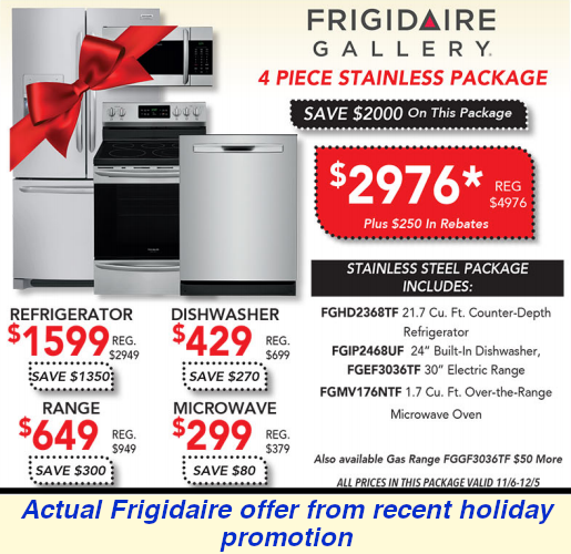 Frigidaire Black Friday Offer 2019