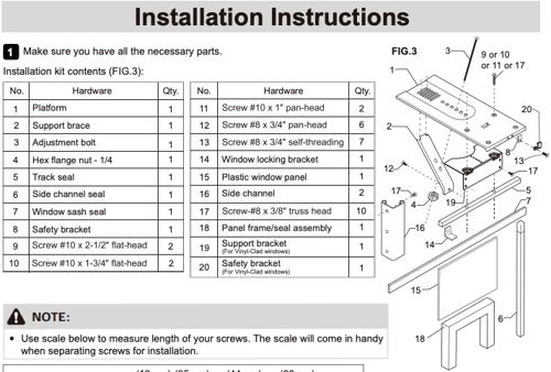Frigidaire Casement Window Air Conditioner Installation Instructions Snapshot