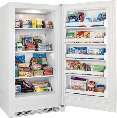 Frigidaire Upright Freezer Open Interior