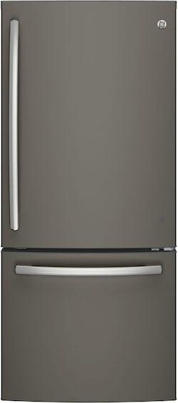 GE Slate Appliances GDE21EMKES bottom freezer refrigerator
