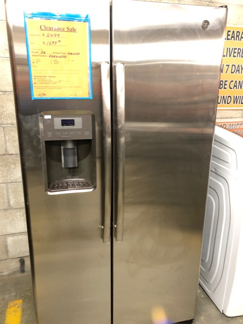 GE GZS22DSJSS Side by Side Refrigerator Clearance