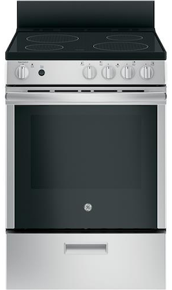 GE JAS640RMSS 24 Inch Smooth Top Electric Range