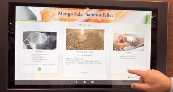 GE Kitchen Hub Recipe Walkthrough Demonstration