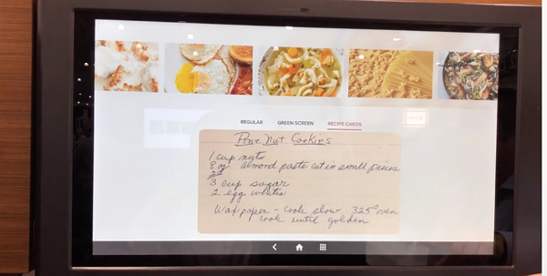 GE Kitchen Hub Digitize Recipe Cards