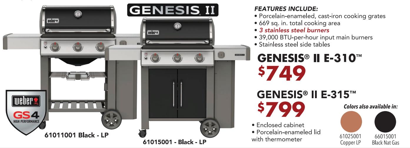 Genesis E-310 and E-315 2030