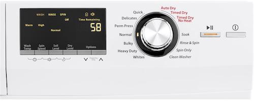 Haier Washer Dryer Combo HLC1700AXW Control Panel