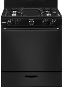Hotpoint RGBS100DMWW Gas Range from Hotpoint Website
