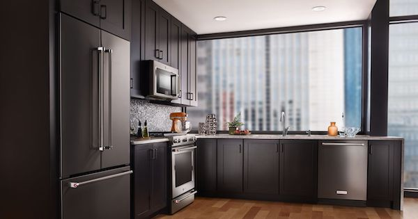 When is the Best Time to Buy Appliances? - KitchenAid Black Stainless Steel Appliance Suite 04.16.17.jpg