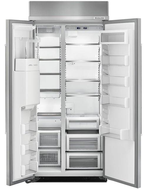 KitchenAid KBSD606ESS Built In Refrigerator Doors Open