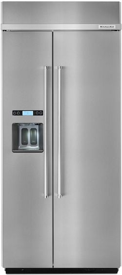 KitchenAid KBSD606ESS Built in Side by Side Refrigerator