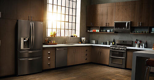 LG Black Stainless Steel Appliance Suite