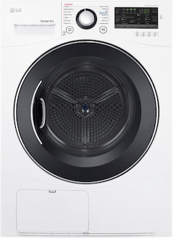 LG DLEC888W Compact Dryer Condensation Dryer