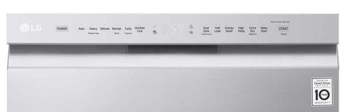 LG LDF5545ST Dishwasher Front Controls Detail