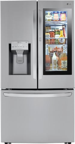 LG LRFVC2406S French Door Refrigerator InstaView Door in Door Craft Ice