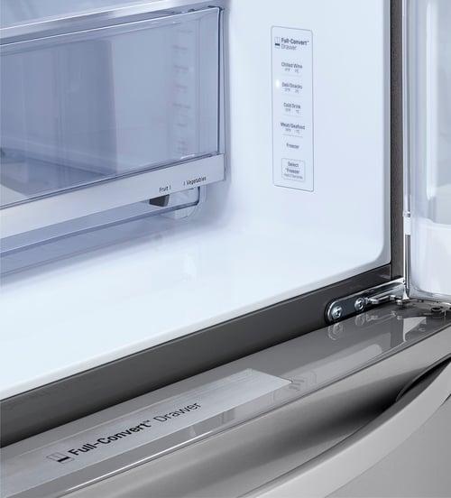 LG LRMDS3006S Full-Convert Drawer Controls