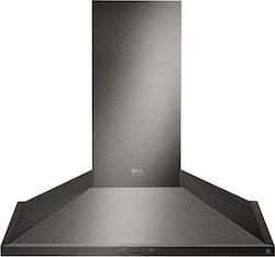 Black Stainless Steel Range Hoods LG Studio LSHD3089BD Range Hood