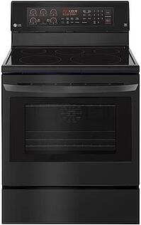 New Appliance Colors - LG Black Matte - LG LRE3194BM Freestanding Range
