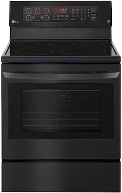 New Appliance Colors - LG Black Matte - LG LRE3194BM Freestanding Range