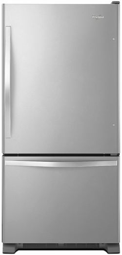 Largest Bottom Freezer Refrigerator Whirlpool WRB322DMBM