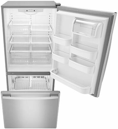 Amana ABB1924BRM Bottom Freezer Refrigerator - Doors Open