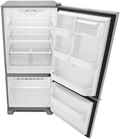 Amana Bottom Freezer ABB1921BRM - Doors Open