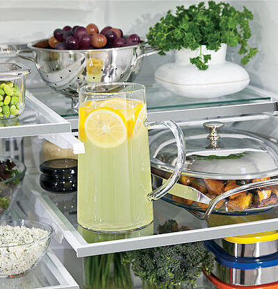 Refrigerator Organization - Retractable Shelving - GE French Door GYE22HSKSS
