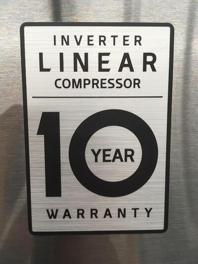 LG Linear Compressor Warranty Badge 05.30.18